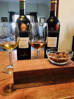 Sherry samples with nuts