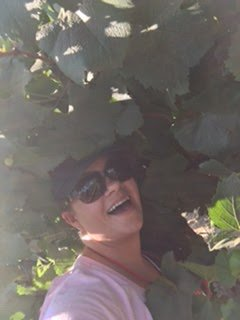 Me all up in the vines somewhere in Lodi