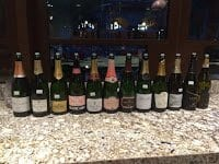 One of our tasting group lineups.