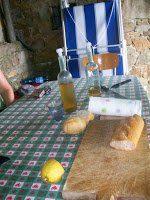 Fresh bread and wine!