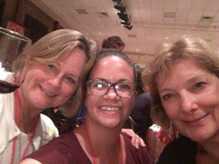 Theresa, myself, and Melanie, the Wine House aka WSET Diploma gals, from LA