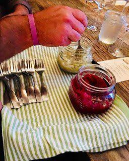Fermented Beets and Sauerkraut