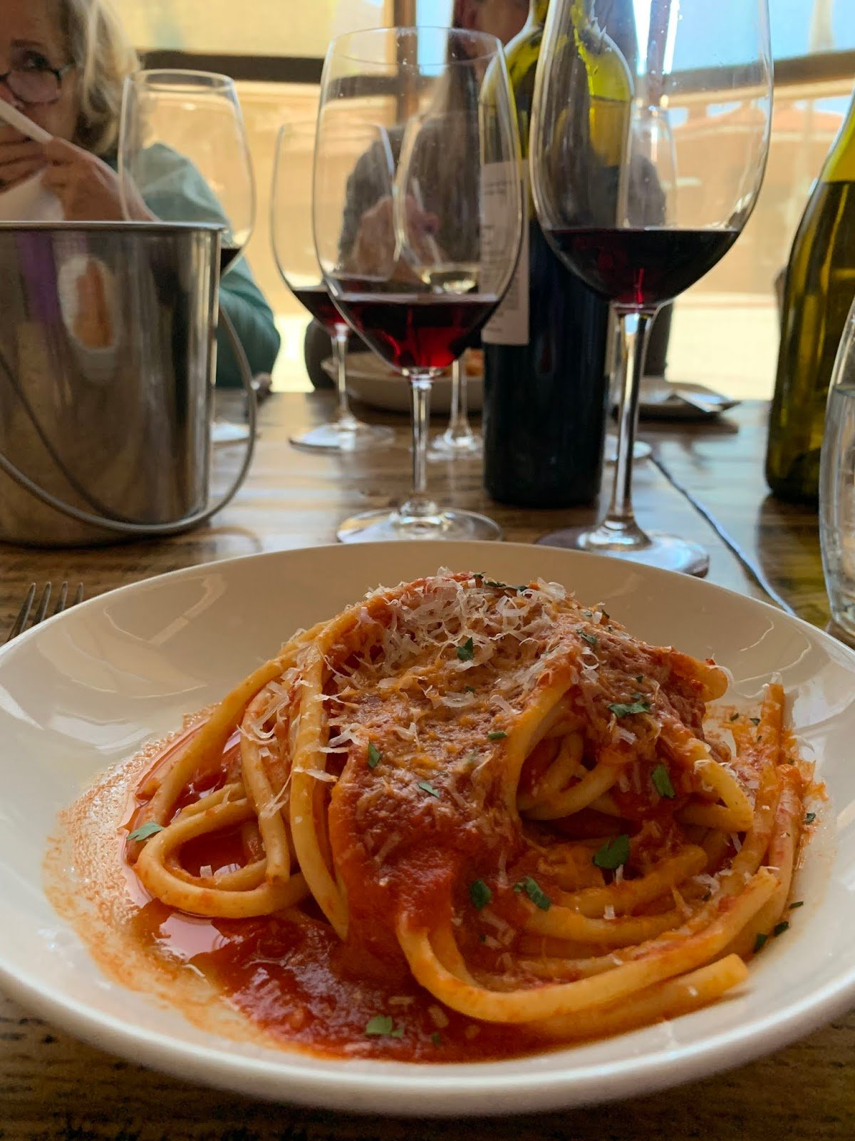 Pasta Arrabbiata with Pecorino Romano