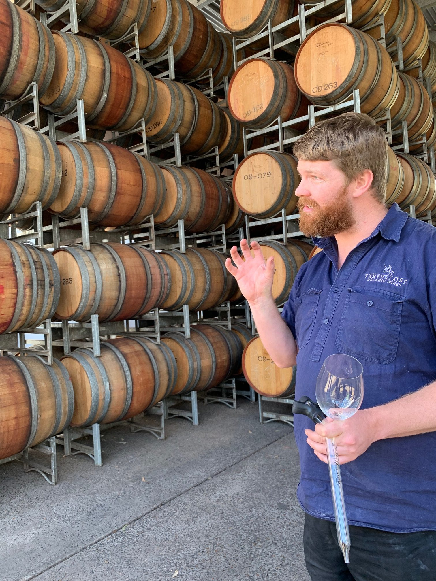 Conor Brasier and Hunter Valley Wine