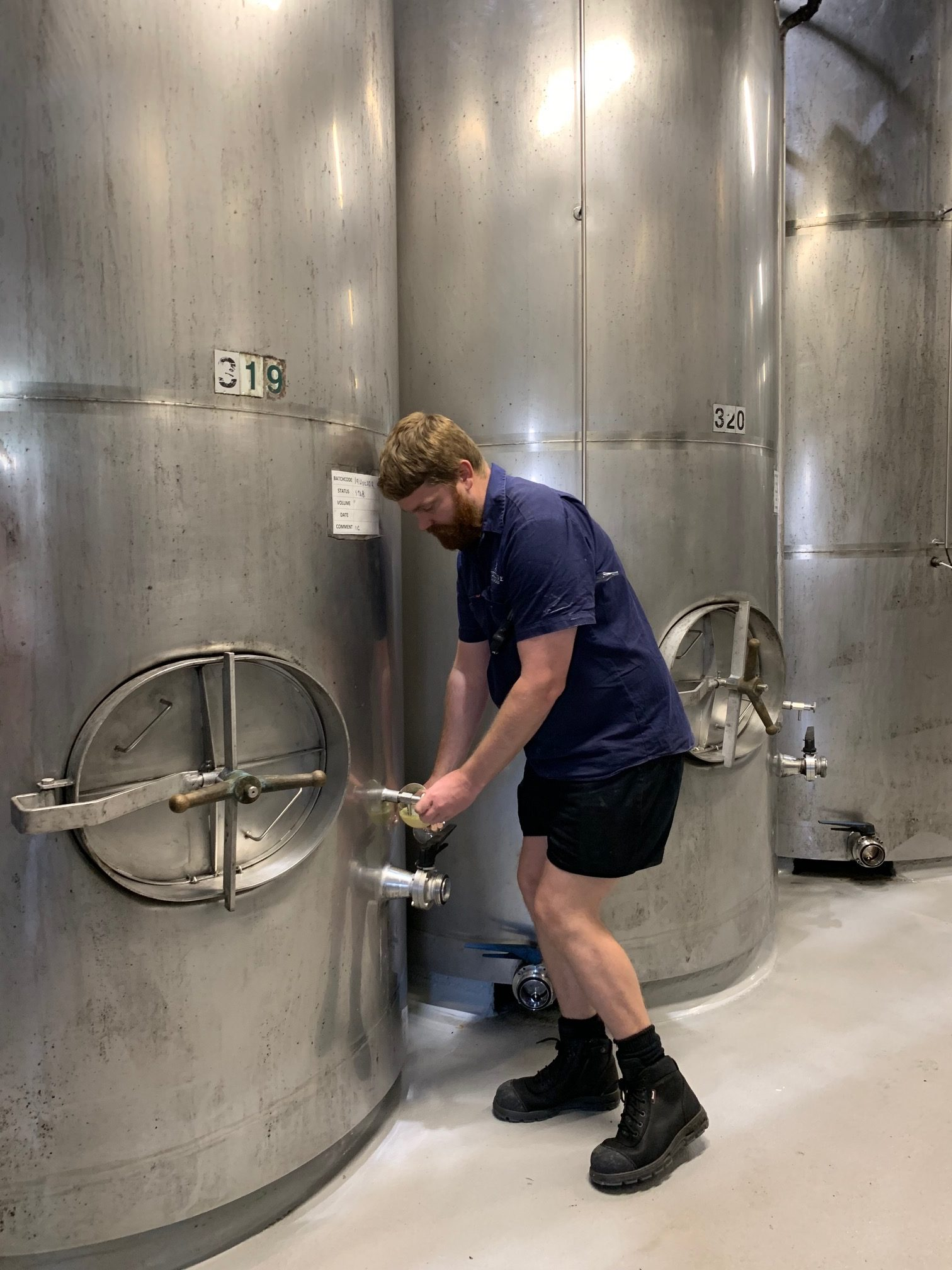 Hunter Valley Wine coming out of barrel
