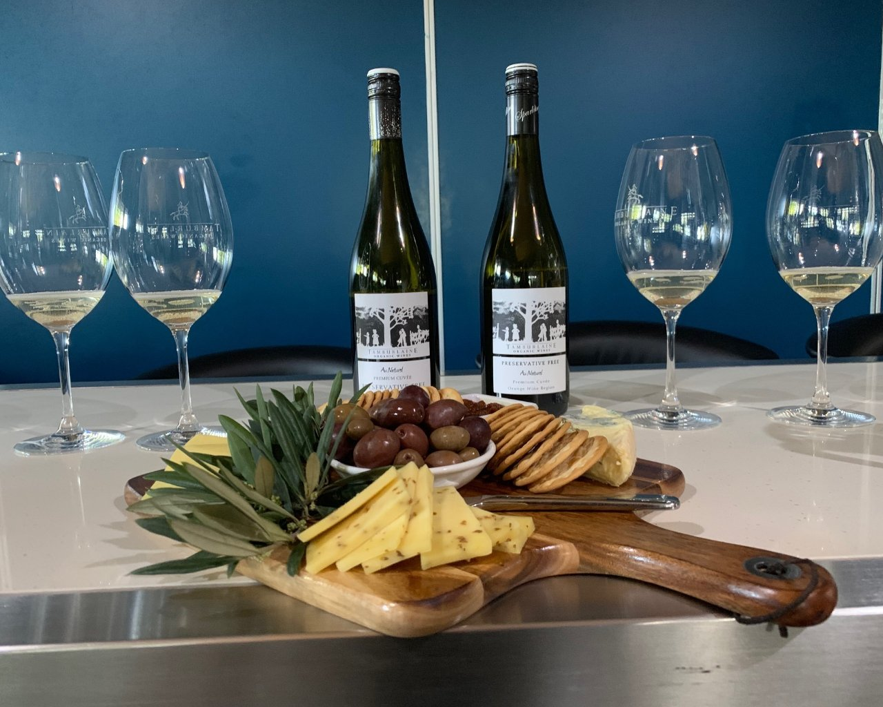 Cheese plate and Hunter Valley Wine