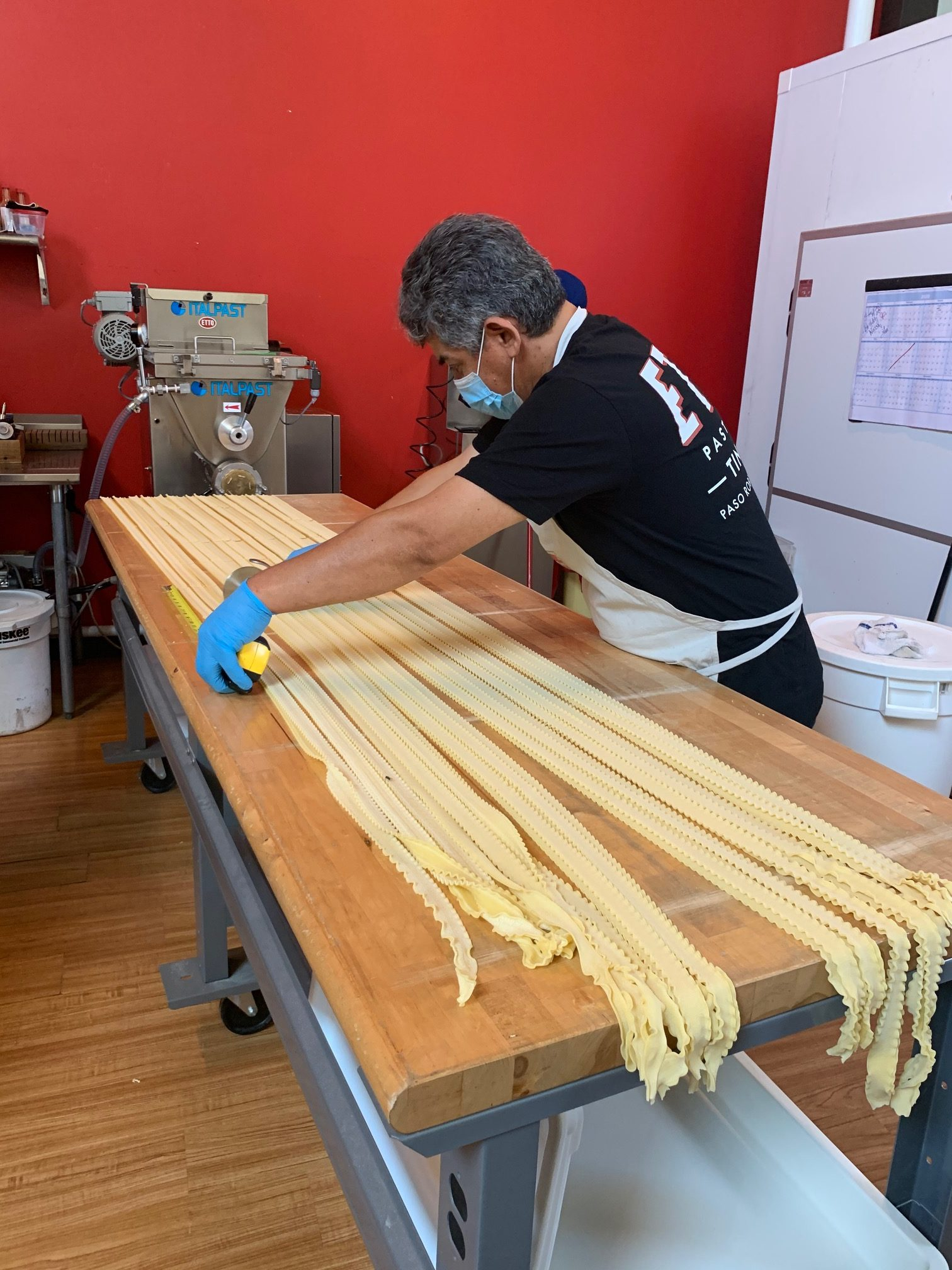Pasta making in Paso Robles