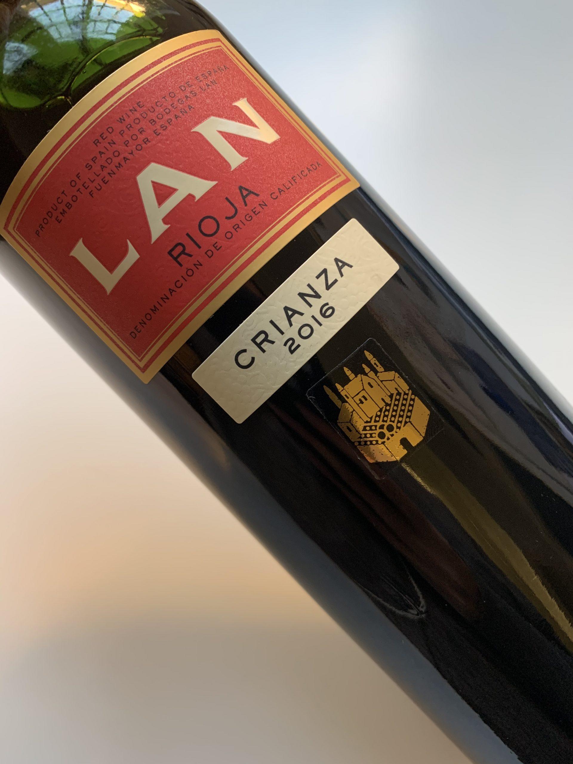 Rioja wine Region LAN Crianza 2016