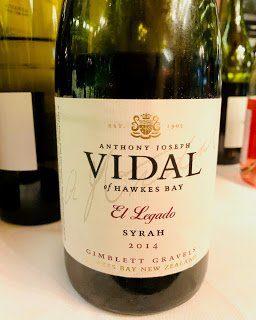 "New Zealand Wine: VidalSyrah ""El Legado"" Hawke's Bay/Gimblett Gravels 2014"