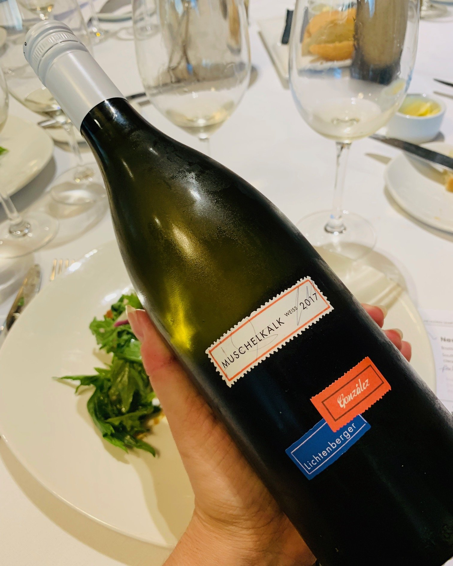 food and wine pairings Lichtenberger-Gonzalez Muschelkalk 2017