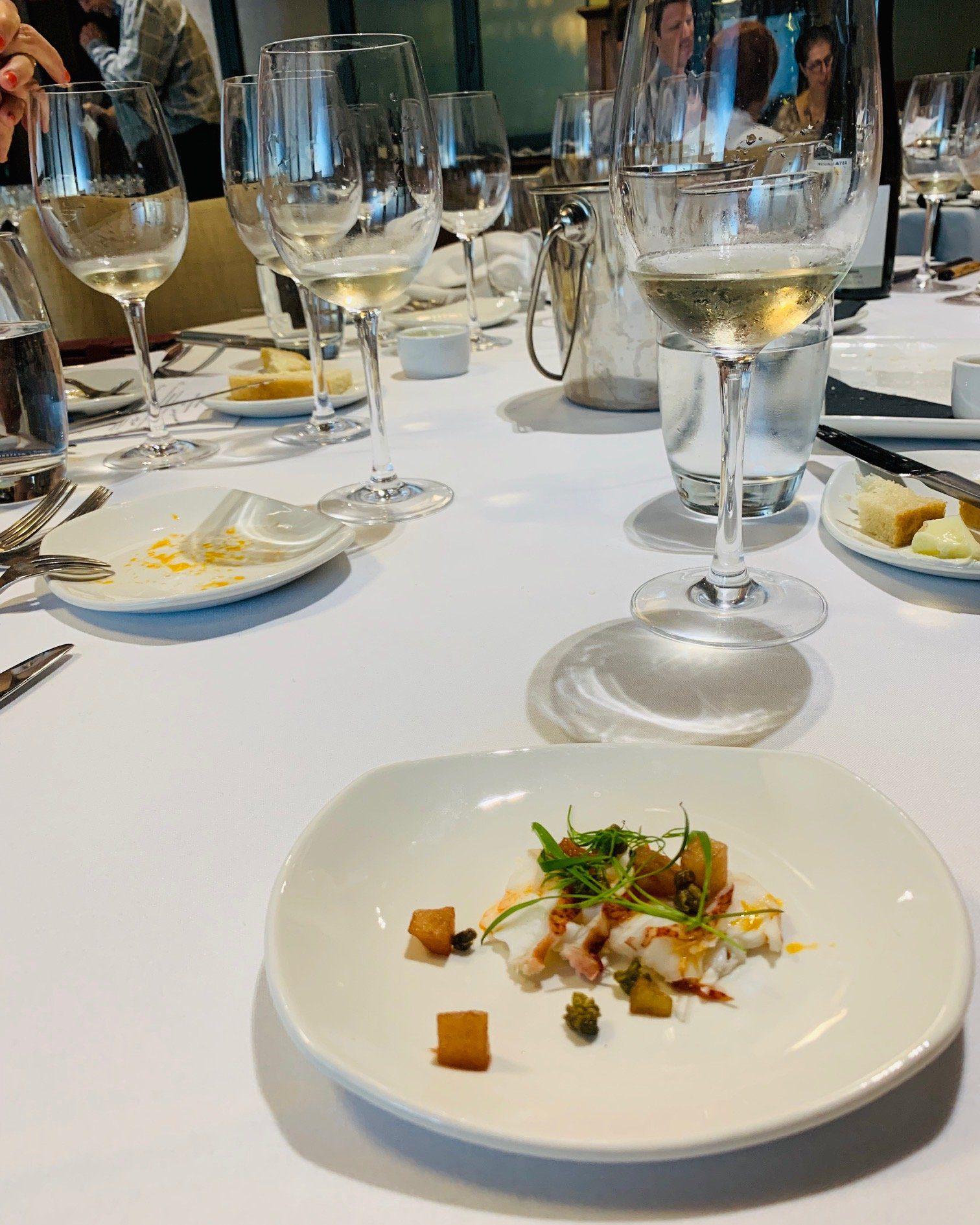 food and wine pairings Lobster Carpaccio