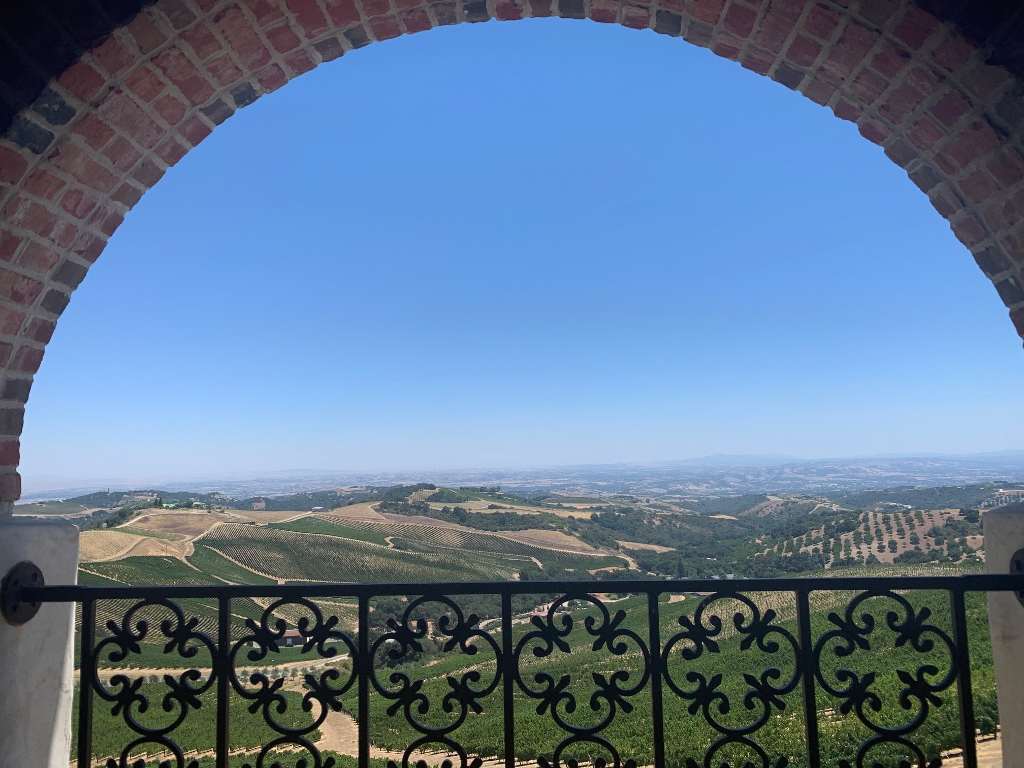 wine tasting in Paso Robles views